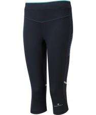 Ronhill RH-002012RH-00196-8 Ladies aspiratie zwarte pepermunt stretch capri panty - size uk 8 (xs)