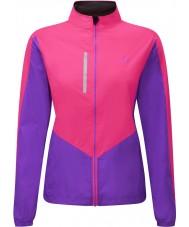 Ronhill RH-001473RH00179-12 Vrouwen Vizion fluo roze lila windlite jacket - Maat EU 12 (m)